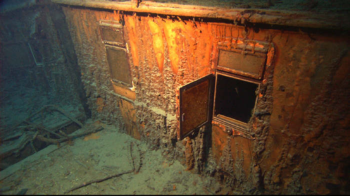 Titanic windows and the glass is still intact at the bottom of the ocean