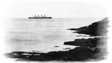 coastal photo, titanic at sea