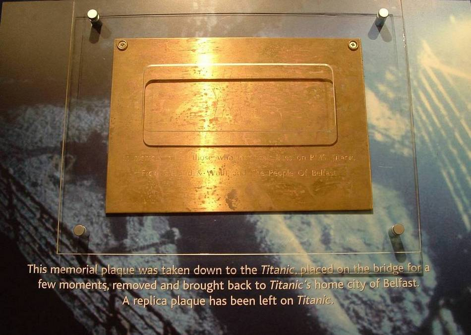 Titanic Memorial Plaque