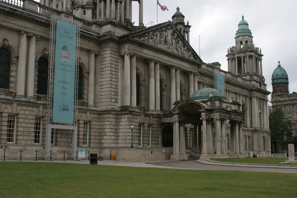 Belfast City Hall entrance