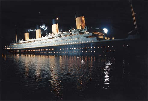 Titanic set from Movie in Hydraulic riser tank