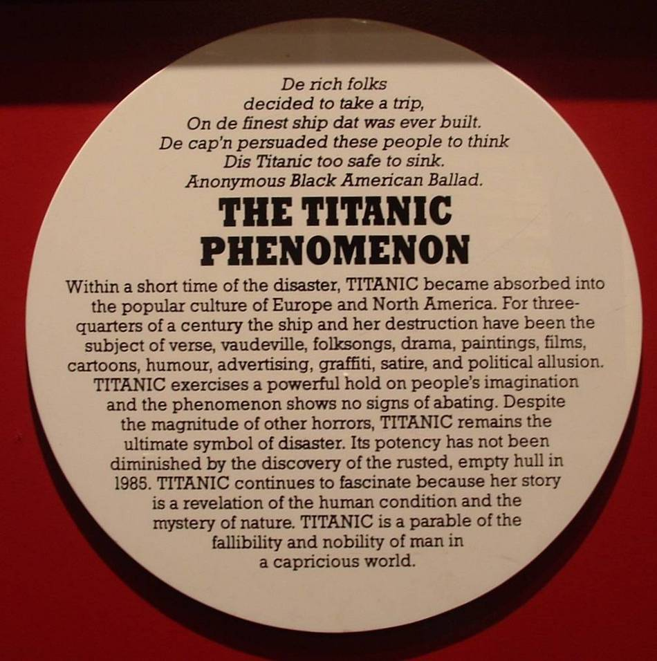 The Titanic Phenomenon