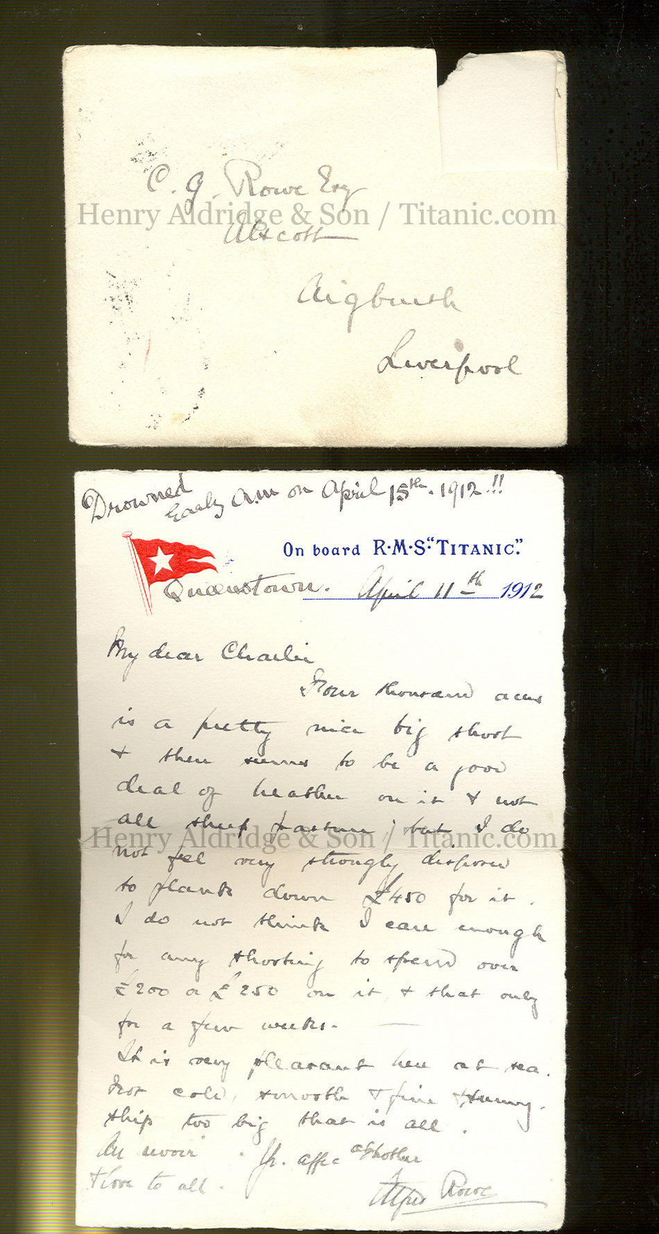 Alfred Lowe letters