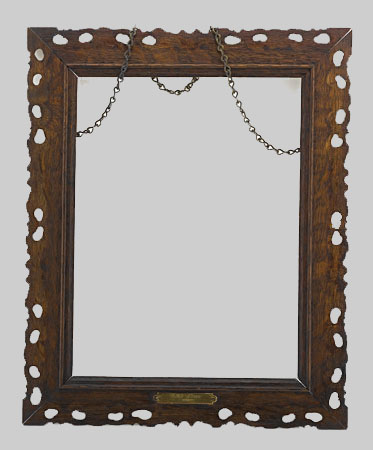 An  oak frame made from wreckwood