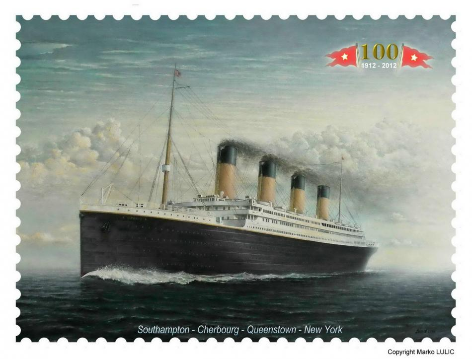 Famous memorial Titanic stamp