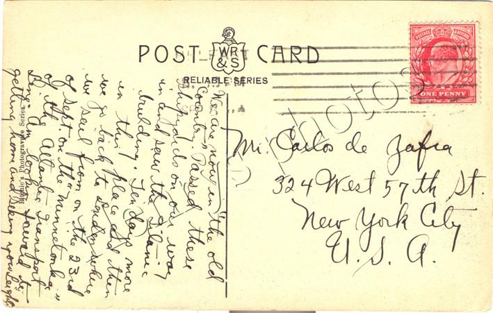 Belfast ex-pats write note on Titanic