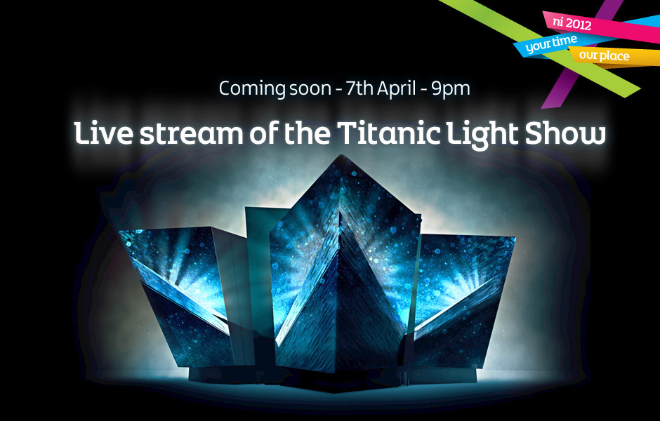 Live stream of the Titanic Light Show on Titanic.com