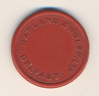 Titanic Token: Harland and Wolff tram side 2