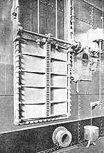 Compuerta de los compartimentos