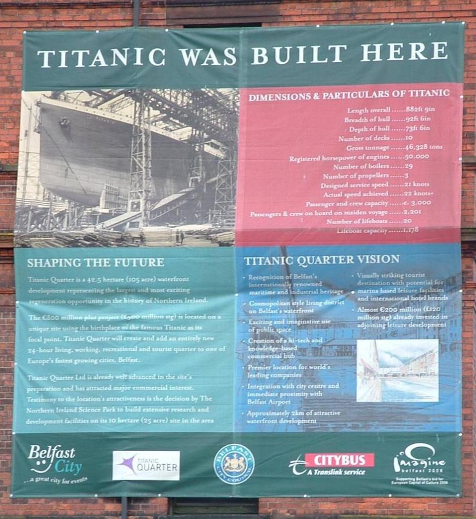 Titanic Was Built Here Sign At Harland & Wolff