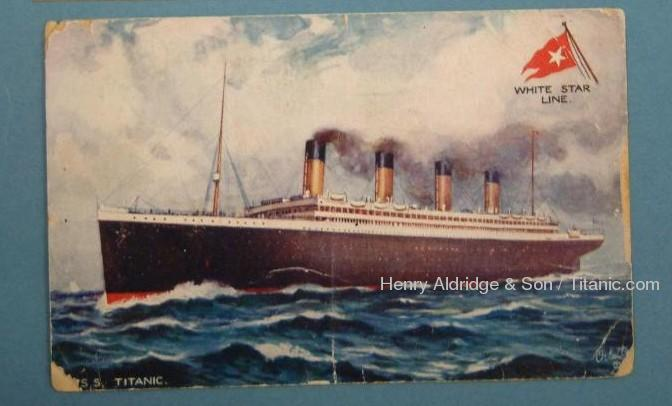 Titanic Postcard Signed Percy Bailey
