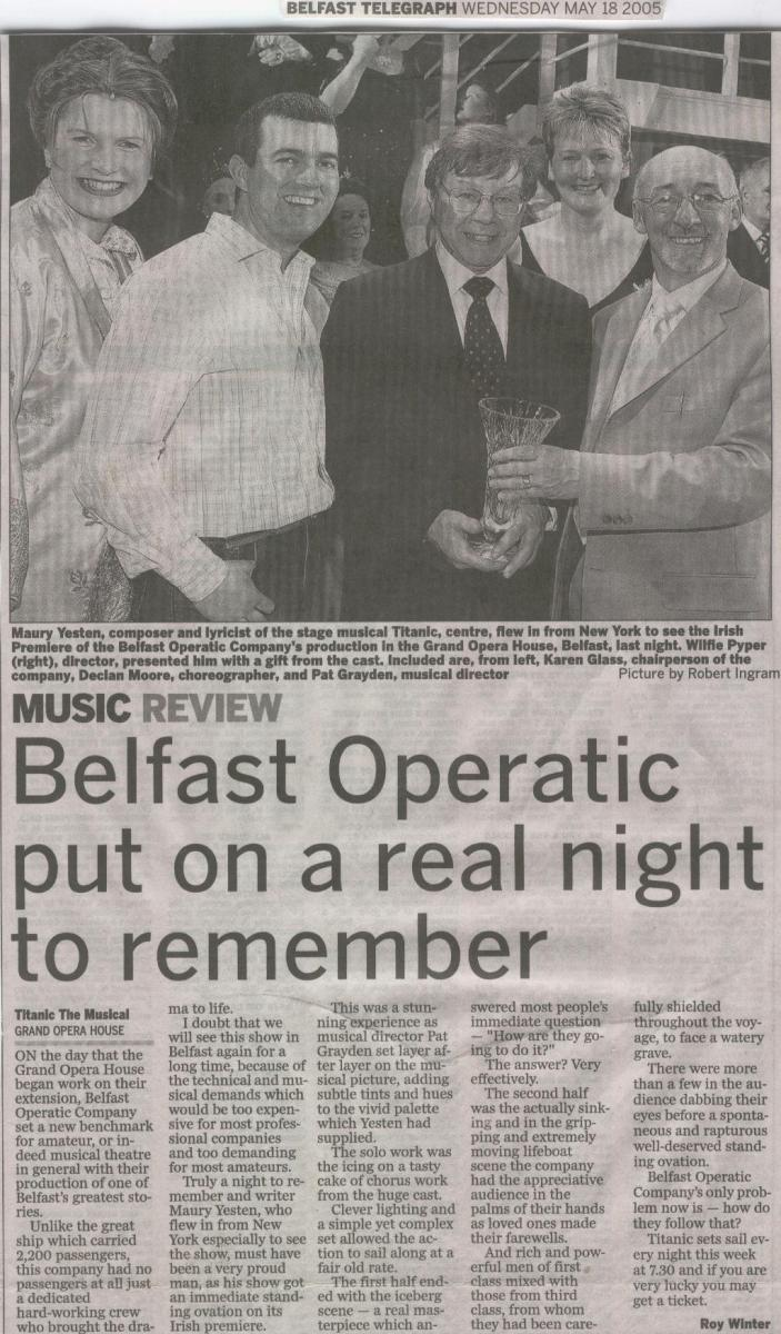 Belfast Telegraph review