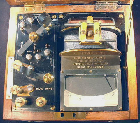 Galvanometer top down