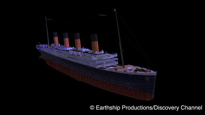 Titanic render frame wire