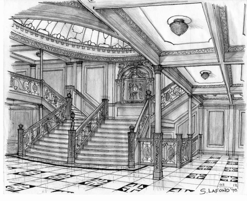 Titanic grand staircase stencil